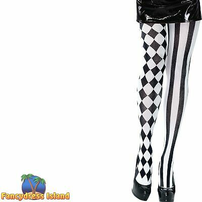 HARLEQUIN DIAMOND MIME TIGHTS - UK 10-14 -  womens ladies clothing accessory