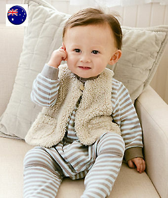 Baby Kids Children Boys Girls 2 sides Warm Autumn Winter Thermal Fleece Vest