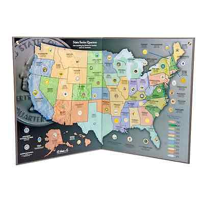 COIN COLLECTOR'S MAP - State Series Quarters - (1999-2009)