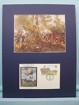 General Anthony Wayne at the Battle of Fallen Timbers & First day Cover