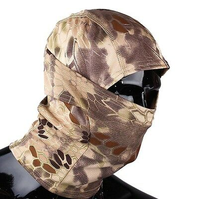 Tactical Military  Outdoor Quick-Drying Hood Balaclava Full Face Mask Hld Camo