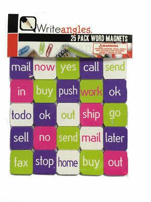 2 Packs of 25 Word Magnets Be Creative On Your Fridge Or While Customers Wait