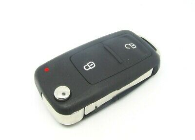 Vw Volkswagen Transporter T5 Amarok Polo 2 Button Remote Key Fob Case And Blade