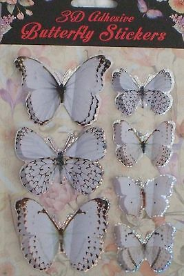 BNIB 24 Boxes Of Stunning 3d butterfly stickers craft Scrapbooking Decorative