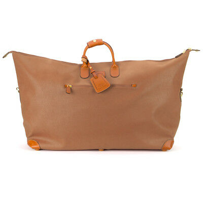 NEW Bric's Life Holdall Camel Extra Large Travel Bag