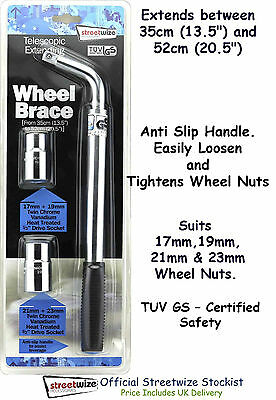 Top Quality Telescopic Extending Car 4x4 & Van Wheel Brace 17,19, 21, 23 mm Nuts