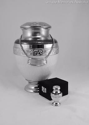 Extra Large XL Adult Solid Brass Cremation Cinerary Funeral Urn Holds to 160Kg