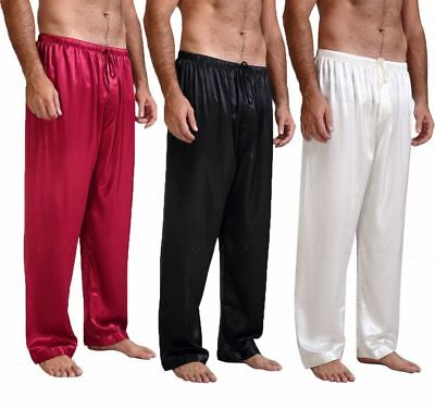 Mens Silk Satin Pajamas Pyjamas Pants Sleep Bottoms Free p&p  S~4XL Plus