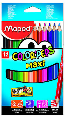 Maped Color'Peps Maxi Colouring Pencils Crayons Large School Stationery Office