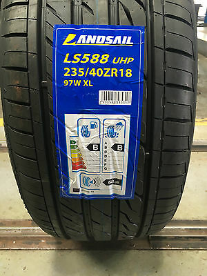 X1 235 40 18 97W Xl New Landsail Tyre, Amazing B,B Ratings Cheapest On Ebay!!