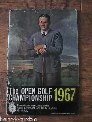 Open Golf Programme 1967 Hoylake Signed Autograph Gay Brewer Miguel Jacobs Large