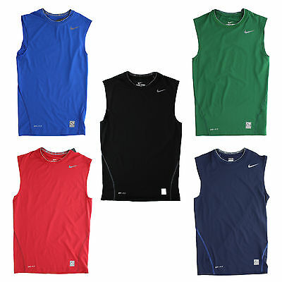 New Nike Men's Pro Combat Tight Compression Sleeveless Tank Top Shirt 269602