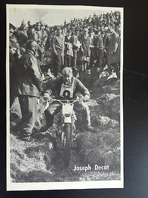 CPA carte postale Lotto photo Joseph Decat  Sport motocross
