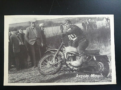 CPA carte postale Lotto photo Auguste Mingels  Sport Motocross