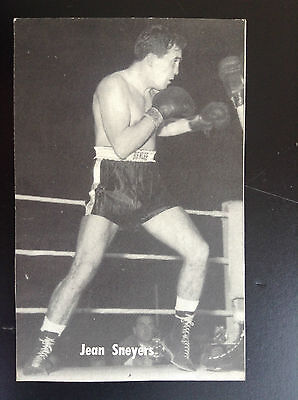 CPA carte postale Lotto photo Jean Sneyers Sport Boxe