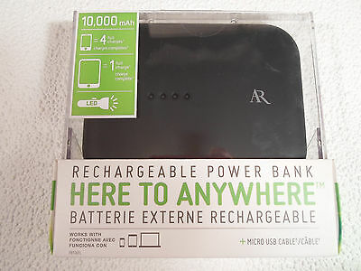 Rechargeable Power Bank LED Phone mobile device charger USB Micro Dual Acoustic