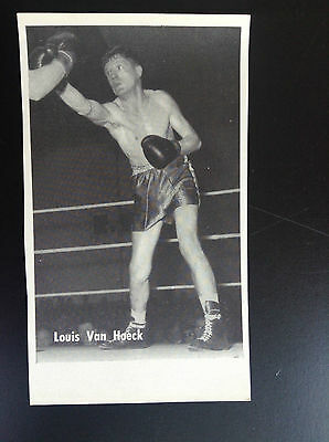 CPA carte postale Lotto photo Louis Van Hoeck Sport Boxe