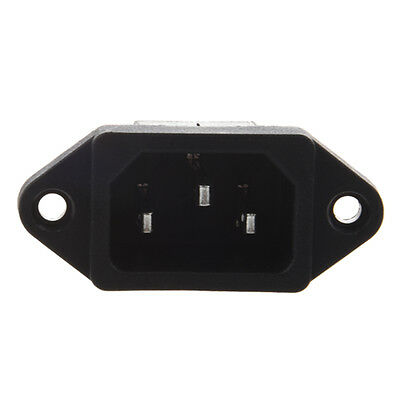 IEC 320 C14 Male Plug 3 Pins PCB Panel Power Inlet Socket Connector DI