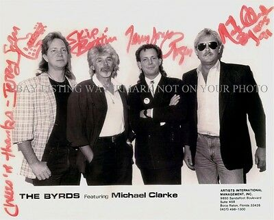 THE BYRDS AUTOGRAPHED 8x10 RP PHOTO GREAT BAND