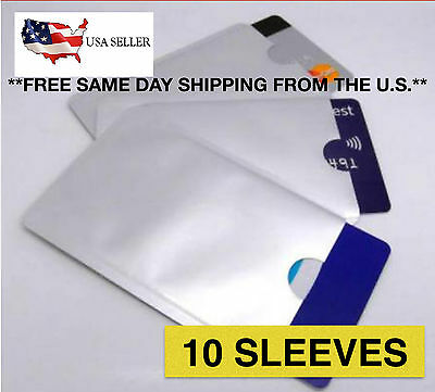 10 RFID Blocking Sleeve Protector Credit Card Shields for ID ATM Card
