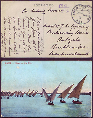 British Military Field Post Office H21  21.1.1919  Syria / Egypt Postcard