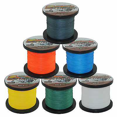 SuperPower Spectra 100%PE Dyneema Braid Fishing Line 300M/500M Various Colors