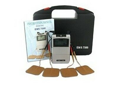 Ems 7500 Muscle Stimulator Dual Channel Relieve Low Back Pain Prevent Atrophy