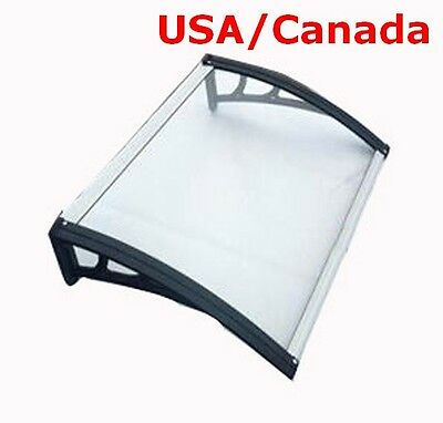 30″×40″(80cm*100cm) Polycarbonate Awning Patio Canopy For Window&Door