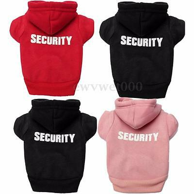 Pet Puppy Dog Security Fleece Hoodie Coat Jumpsuit Doggy Clothes Costume Apparel
