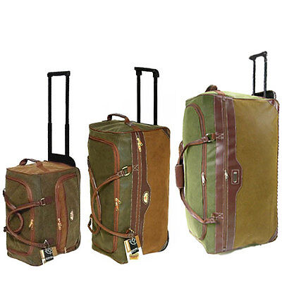 "Extra Large Travel Luggage Wheeled Trolley Holdall Case Duffle Bag 30"",25""or 20"""