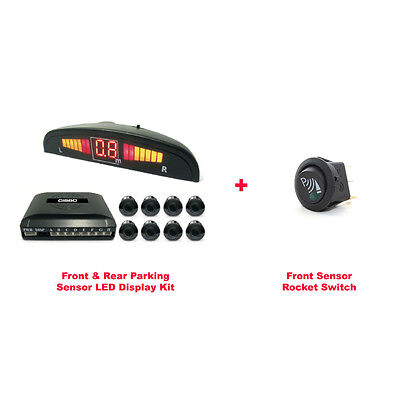 CISBO PARKING REVERSING FRONT AND REAR  8 SENSORS LED DISPLAY SYSTEM with SWITCH