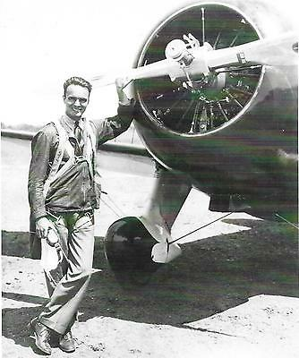 """Black & White 5X7 Air Racing Photograph  - Vintage """"russell Thaw & Gee Bee"""""""