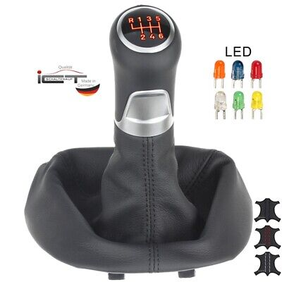 Porsche Boxster 911 Typ 997 shift gear knob with gaiter and frame leather LED