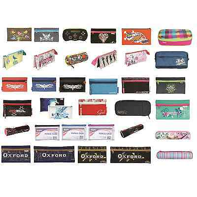 Helix Pencil Case Zipped Pockets School Exams  Stationery Education Oxford Maped