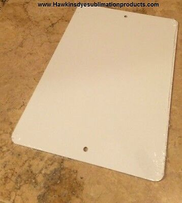 """10 Pieces of PARKING SIGN  ALUMINUM  SUBLIMATION BLANKS 8""""x 12"""" / WITH HOLES"""