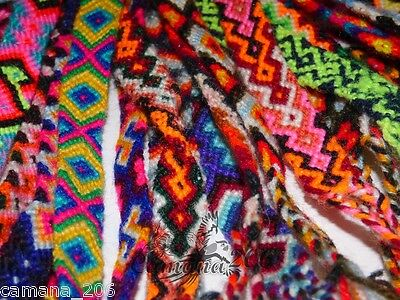 50 Peruvian 100 % Wool Friendship Bracelets **handmade In Cusco**