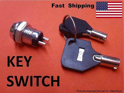 KEY Switch --- On & Off --- custom UNIVERSAL electrical components Barrel Style