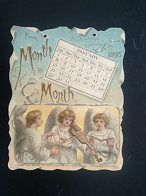 carte devotional Calendar 1893