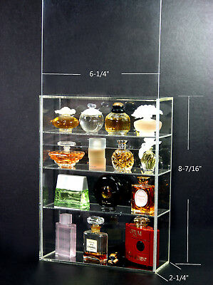 High Gloss Acrylic Display box show case sliding door for Mini Perfume bottle