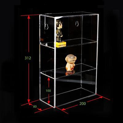 3-TIER Acrylic Display box case sliding door wall mount collectibles 12 H x 8 W