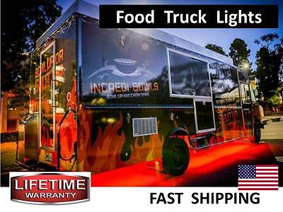 Mobile Food Cart & Food Truck Catering Concession Trailer LED Lighting KIT video