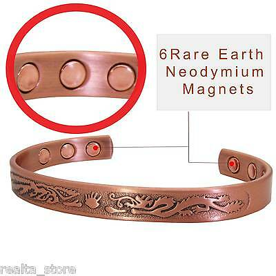 Pure Copper Strong Magnetic Therapy Bracelet Arthritis Pain Relief Armband – DD