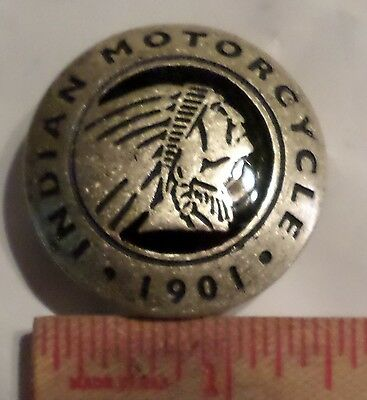 Indian motorcycle screw-back concho vintage collectible old cycle accessory