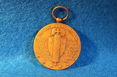 Vintage WWI, Victory Medal, Military Pendant, The Great War For Civilization
