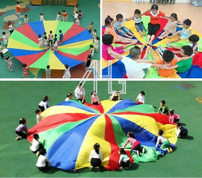 Kids Play Rainbow Parachute Outdoor Game Exercise Sport Toy UK