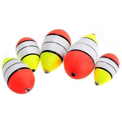 New 5PCS Foam Fishing Floats Bobbers Drift Tube Indicator Set Outdoor