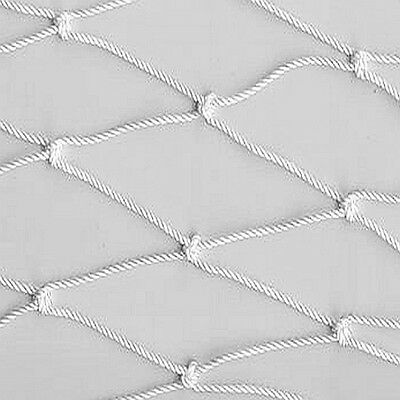 White Nylon Guard Rail Safety Netting
