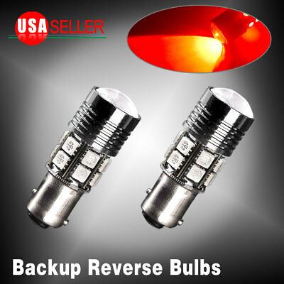 10 X 6000K White 1157 50 SMD LED Tail Brake Stop Backup Reverse Light Bulbs 1152