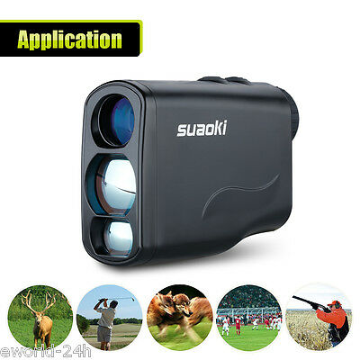 Laser Rangefinder 600m 6X Long Distance Measure Golf Hunting Range Finder LCD AU