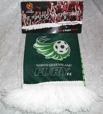 North Queensland Fury Football Club Soccer A League Scarf New 100% Polyester